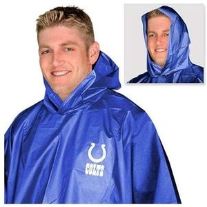 Authentic NFL COLTS hooded Rain jacket Poncho